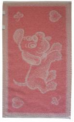 Dětský ručník Pejsek růžový