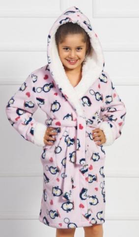 Dětský župan s kapucí Vienetta Secret Malí tučňáci
