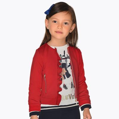 Dívčí červená mikina Mayoral 4425