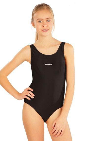 Dívčí jednodílné sportovní plavky Litex 57593 černé