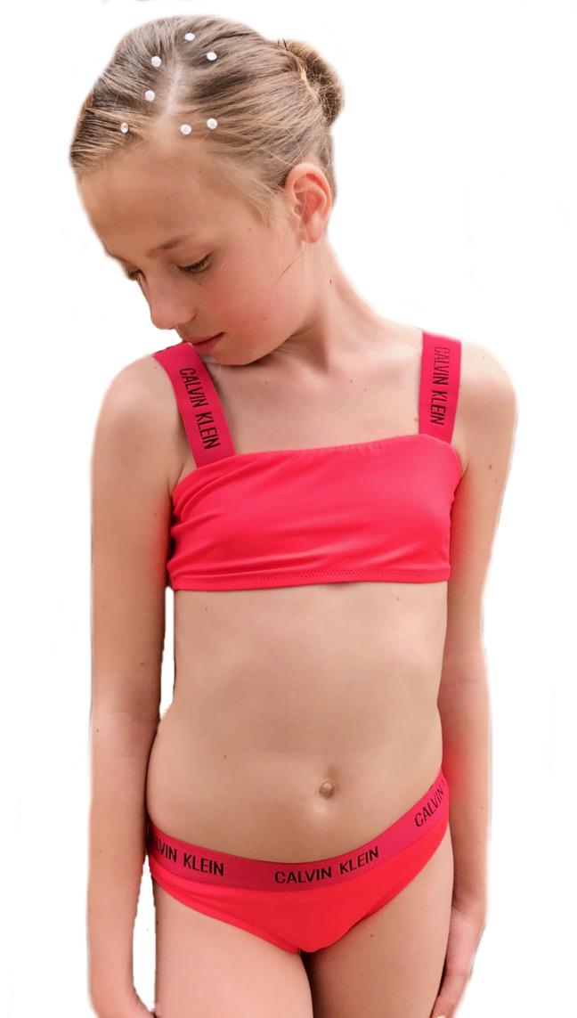 Dívčí plavky Calvin Klein G80G800246 korálové