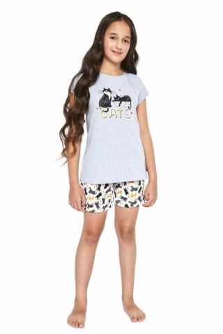 Dívčí pyžamo Cornette 788/87 šedé