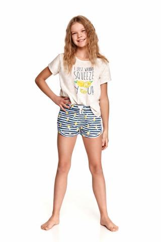 Dívčí pyžamo Taro 2384 beige