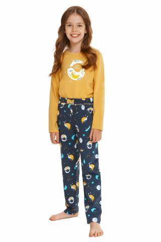 Dívčí pyžamo Taro 2615 Sarah žluté