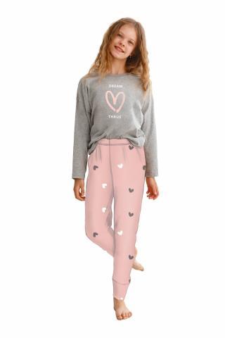 Dívčí pyžamo Taro 2618 Suzan šedé