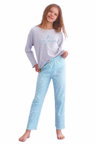 Dívčí pyžamo Taro 2649 Livia šedé