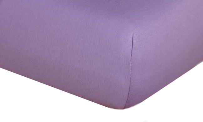 Jersey prostěradlo  fialová B