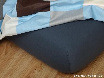 Jersey prostěradlo tmavě šedé 45x120x10 cm