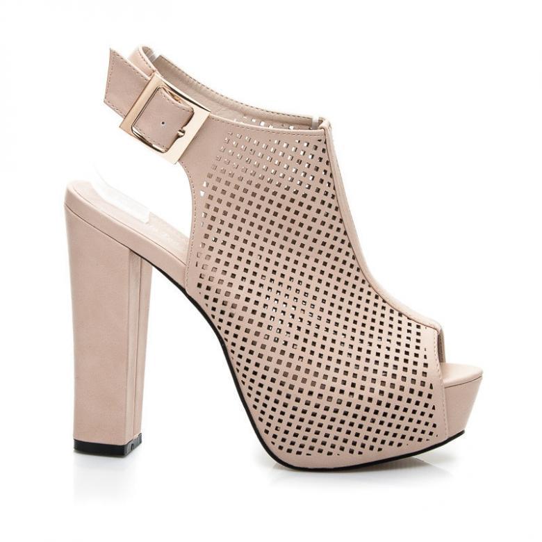 Dámské béžové ažurové sandály Sergio Todzi L870BE