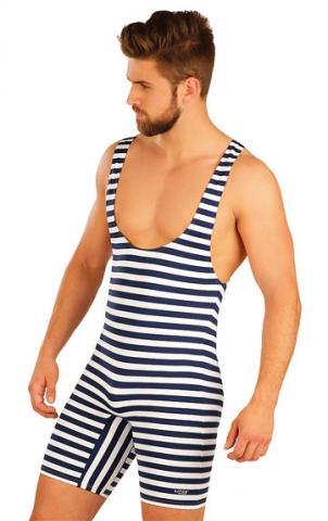 Pánské retro plavky s kšandami Litex 50500