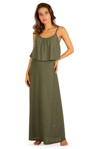 Dámské šaty dlouhé s volánem Litex 5B119
