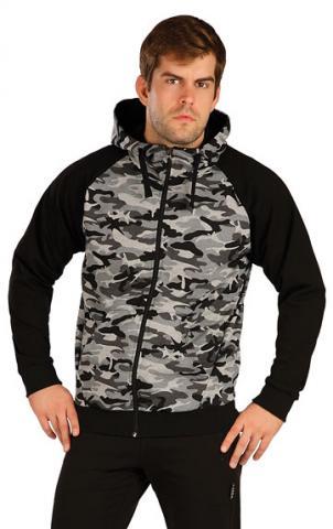 Pánská mikina na zip s kapucí Litex 5B260