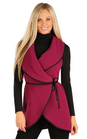 Dámská fleecová vesta dlouhá Litex 60485