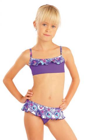 Litex 88474 Dívčí plavky top s volánkem