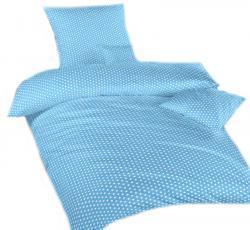 Ložní modré povlečení bavlna DADKA Hvězdička