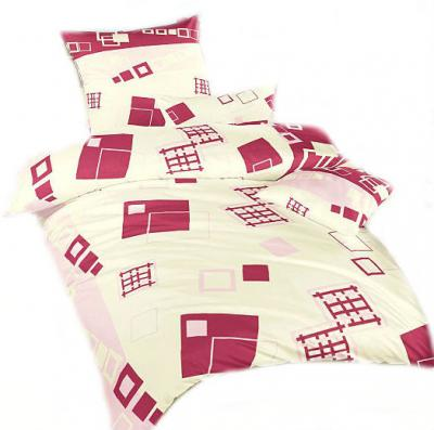 Ložní povlečení bavlna DADKA Svět kostek růžový