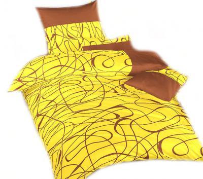 Ložní povlečení nežehlivý satén Balerína žlutá