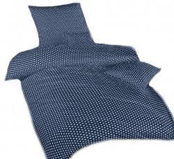 Ložní tmavě modré povlečení bavlna DADKA Hvězdička