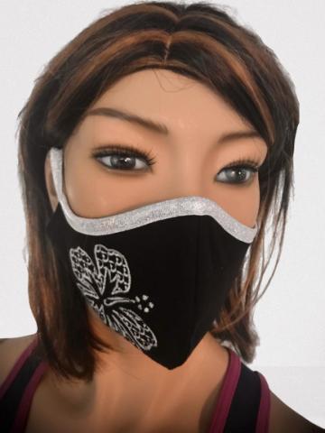 Obličejová ochrana - rouška s výšivkou a kapsou
