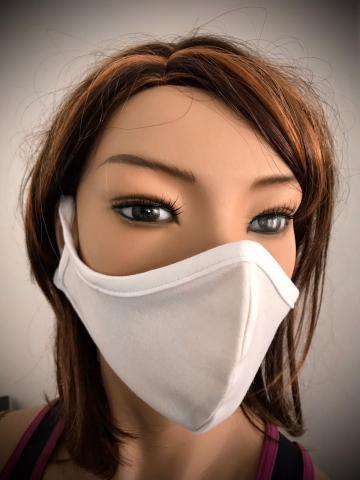 Obličejová ochranná rouška bílá za uši