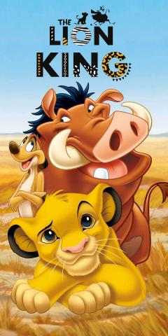 Osuška Lion King 01 70x140 cm