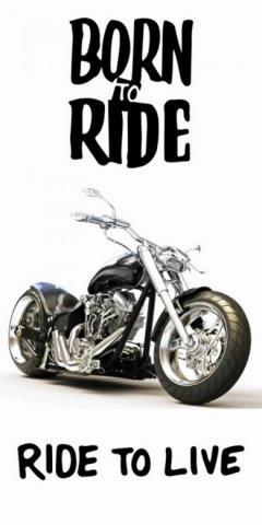 Osuška Motorbike 70x140 cm