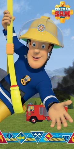 Osuška Požárník Sam blue 70x140 cm