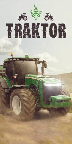 Osuška Traktor green 70x140 cm