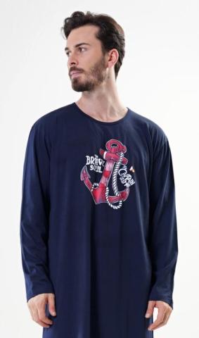 Pánská noční košile s dlouhým rukávem Vienetta Secret Kotva