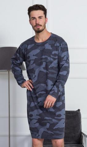 Pánská noční košile s dlouhým rukávem Vienetta Secret Military