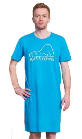Pánská noční košile s krátkým rukávem Vienetta Secret Bear
