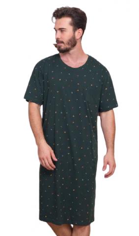 Pánská noční košile s krátkým rukávem Vienetta Secret Jakub