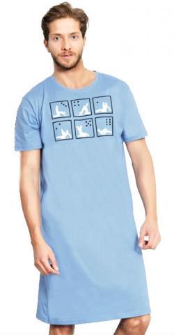 Pánská noční košile s krátkým rukávem Vienetta Secret Kamasutra
