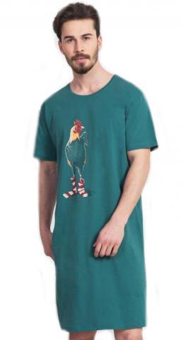 Pánská noční košile s krátkým rukávem Vienetta Secret Kohout