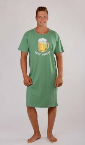 Pánská noční košile s krátkým rukávem Vienetta Secret Pivo