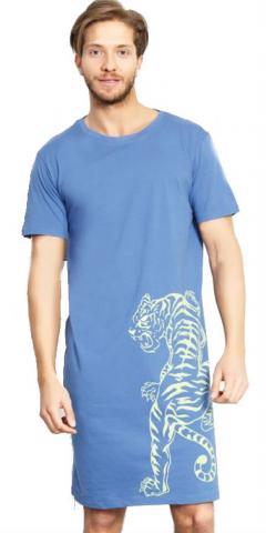 Pánská noční košile Vienetta Secret Tygr