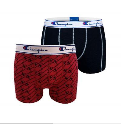 Pánské boxerky Champion 081W 2PACK červená/černá