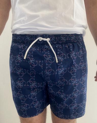 Pánské plavkové šortky Guess 02T03 modrá