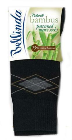 Pánské ponožky Bellinda 497545 BAMBUS VZOROVANÉ