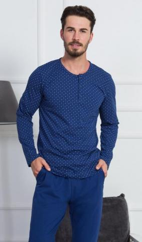 Pánské pyžamo dlouhé Vienetta Secret Bohdan