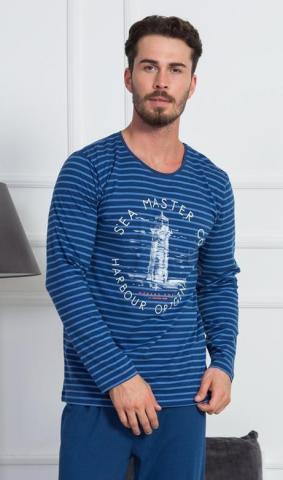 Pánské pyžamo dlouhé Vienetta Secret Maják