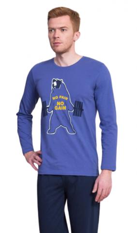 Pánské pyžamo dlouhé Vienetta Secret Medvěd