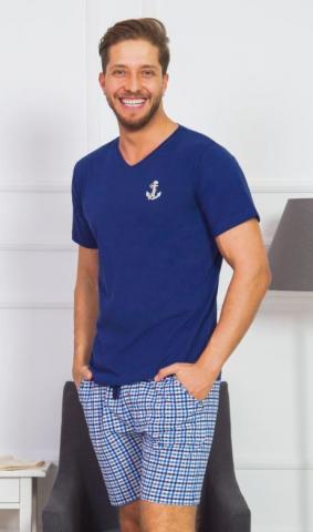 Pánské pyžamo šortky Vienetta Secret Malá kotva