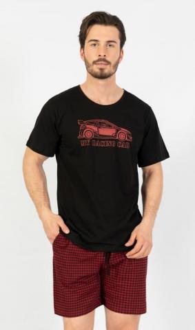 Pánské pyžamo šortky Vienetta Secret My racing car