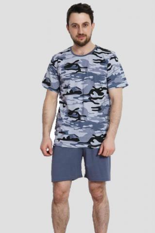 Pánské pyžamo šortky Vienetta Secret Army nadměr