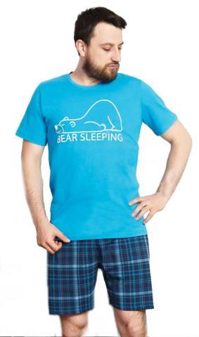 Pánské pyžamo šortky Vienetta Secret Bear