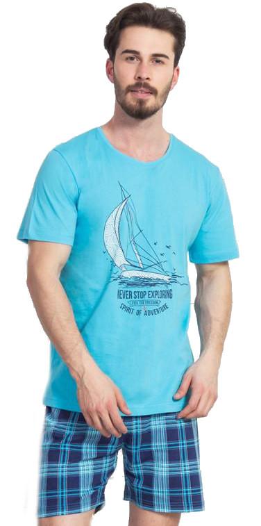 Pánské pyžamo šortky Vienetta Secret Jachting