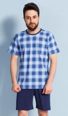 Pánské pyžamo šortky Vienetta Secret Jan modré