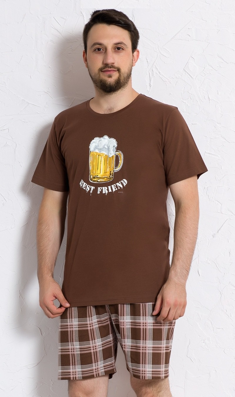 Pánské pyžamo šortky Vienetta Secret Velké pivo nadměr