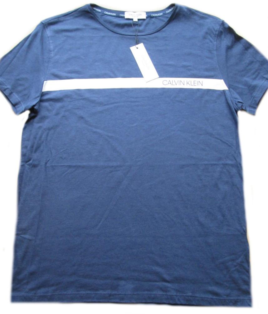 Pánské tričko Calvin Klein KM0KM00329 modré